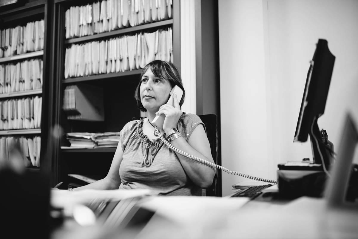 Ángela del Cura, atención al cliente de Kursaal Asesores